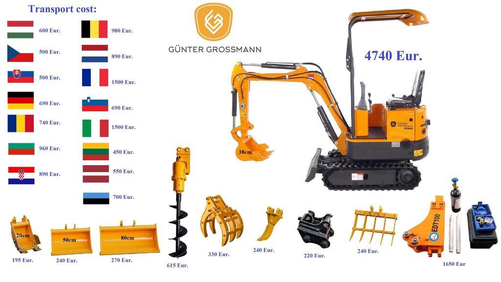 new Günter Grossmann www.gg800.eu GG800 Minikoparka mini digger