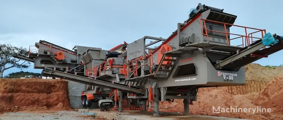 new CONSTMACH 250 tph CAPACITY MOBILE VSI CRUSHER – READY AT STOCK! mobile crushing plant