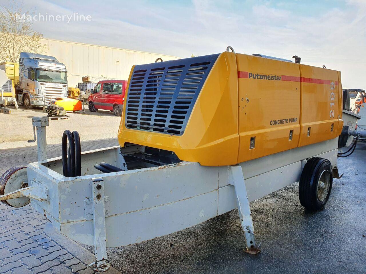 PUTZMEISTER BSA 2109 stationary concrete pump