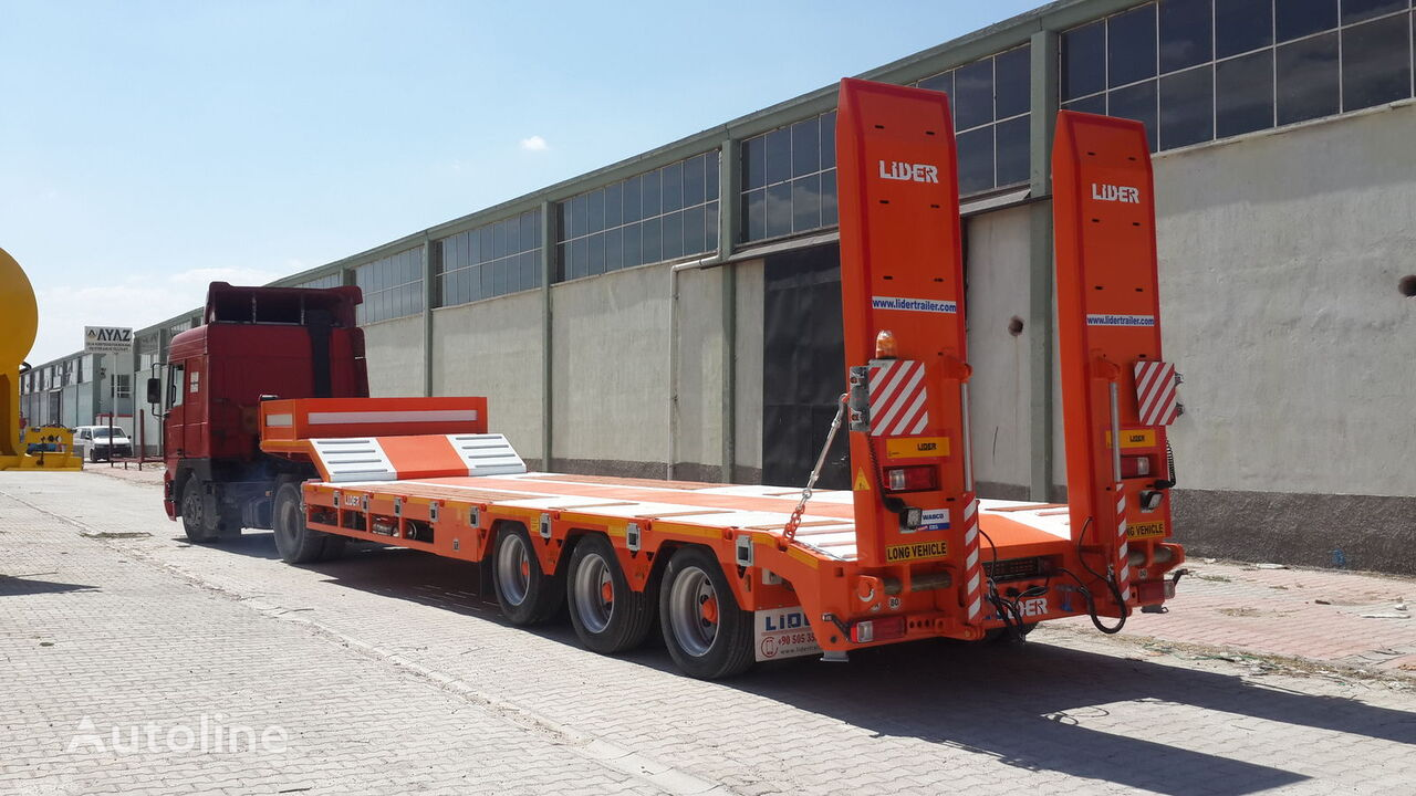new LIDER 2021 READY IN STOCK 50 TONS CAPACITY LOWBED  low bed semi-trailer