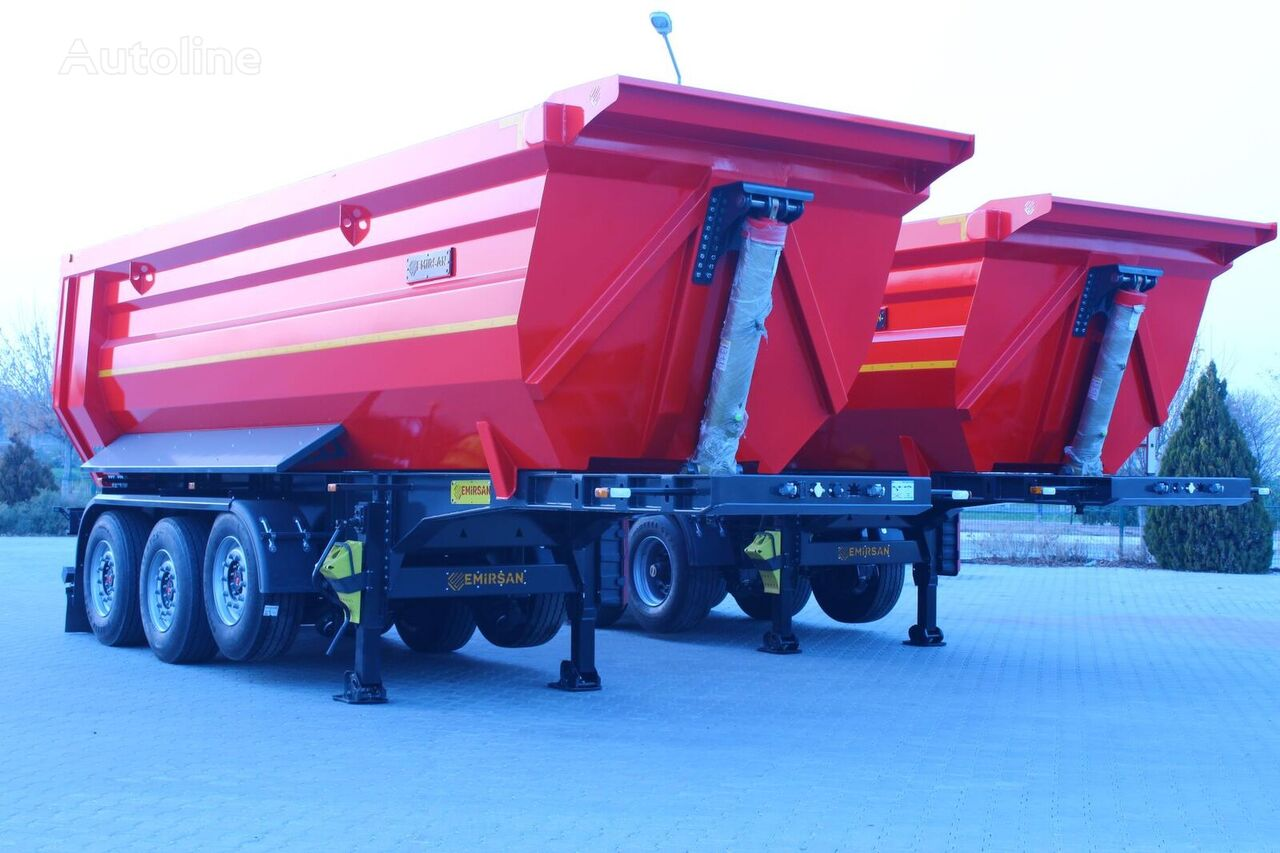 new EMIRSAN Hardox U Type | Half Pipe | Pool Type tipper semi-trailer