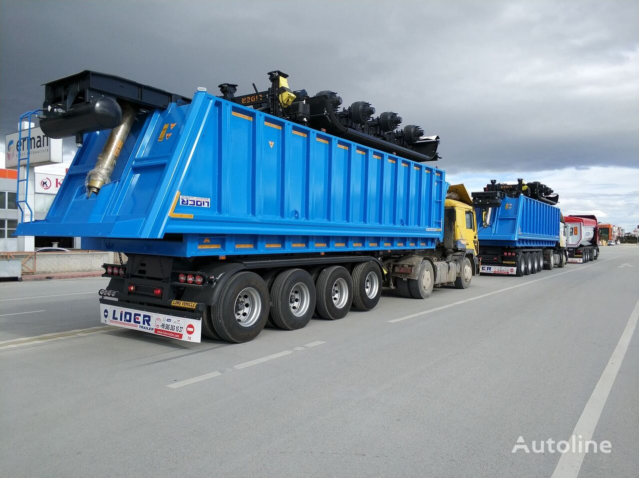 new LIDER 2021 MODEL NEW 35 Mt3 DUMPER ( BENNE ) tipper semi-trailer