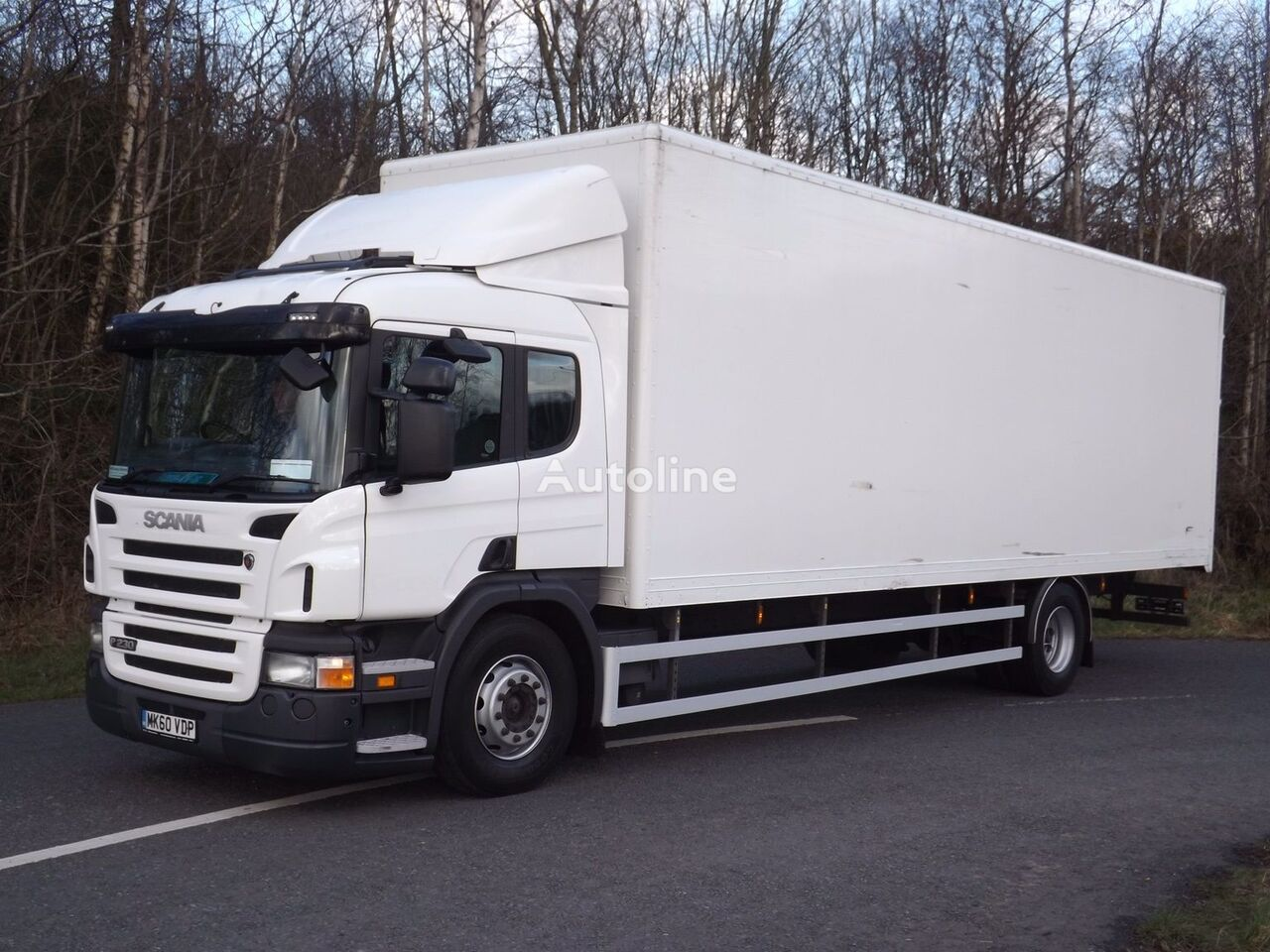 SCANIA P230 closed box truck