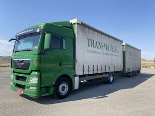 MAN TGX 18.440 curtainsider truck + curtain side trailer