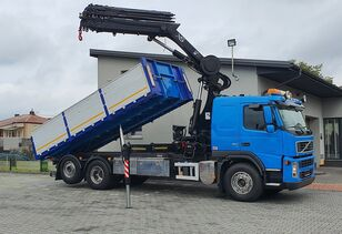 VOLVO FM380 6x2 CRANE HIAB 288 + KIPPER flatbed truck