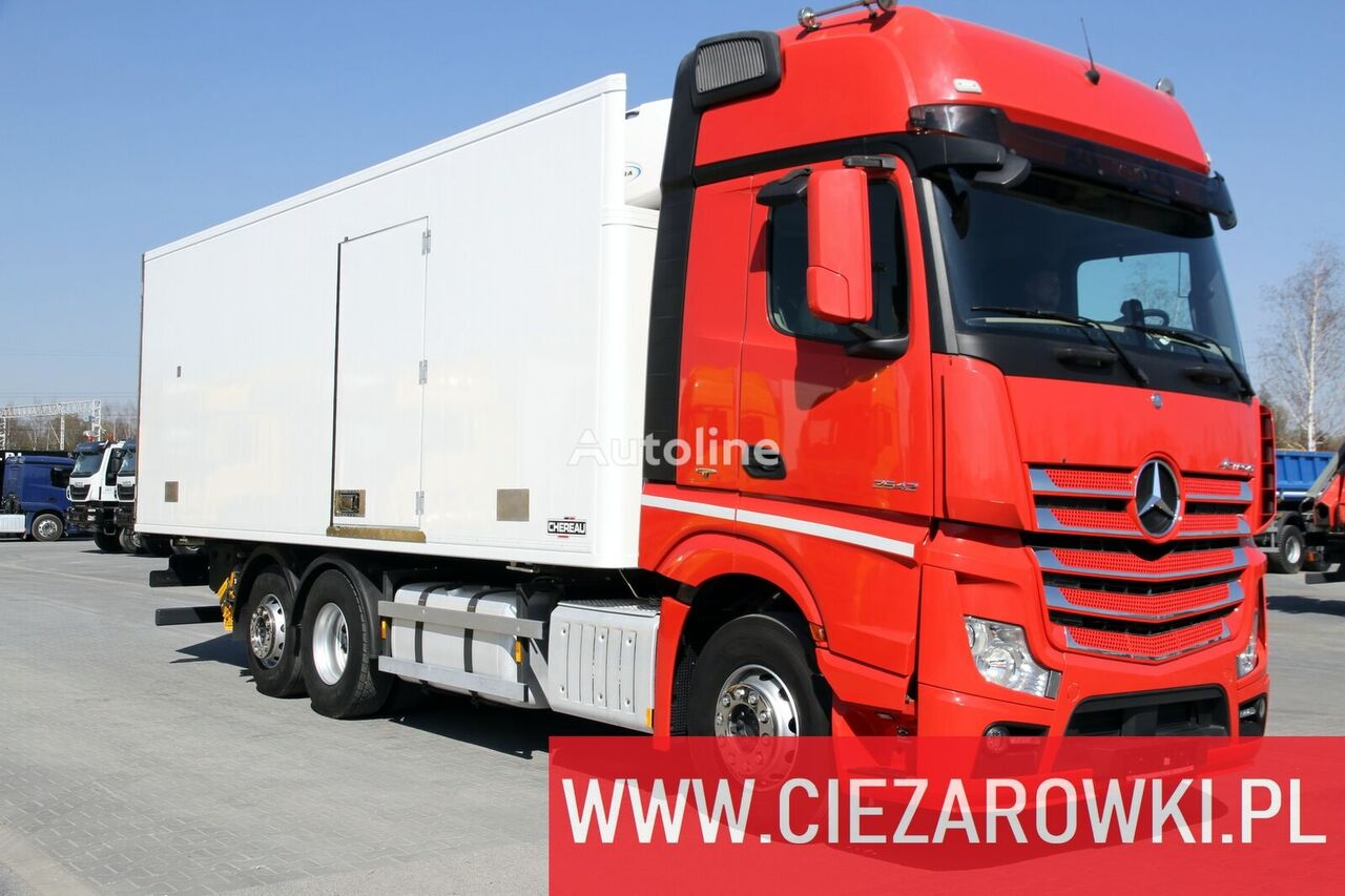 MERCEDES-BENZ Actros 2542 / e6 / 6x2/ hook lift / side door / 18 epal / Carrie refrigerated truck